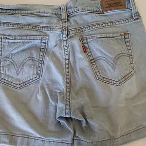 Levi's 515 shorts light blue